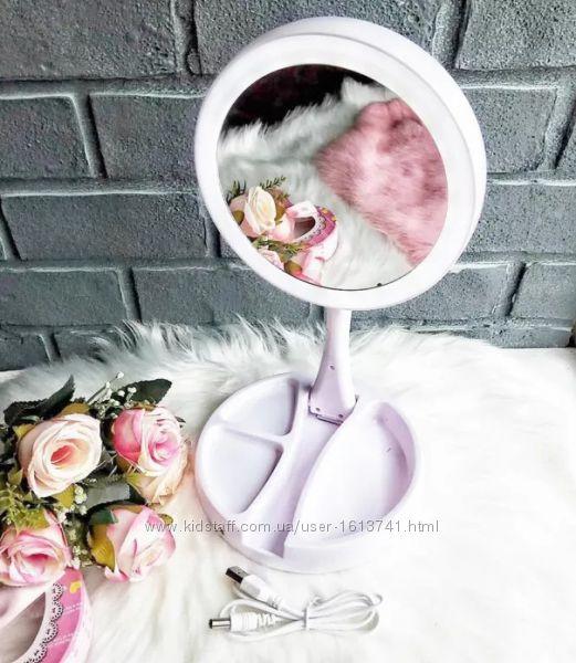 Зеркало с подсветкой, для макияжа, My Foldaway