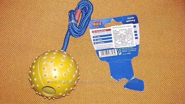 Trixie игрушка для собак мяч апортировочный апорт мяч на веревке