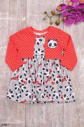Платье в горошек, с пандами, разные цвета