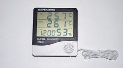 Метеостанция HTC-2 термометр гигрометр часы будильник