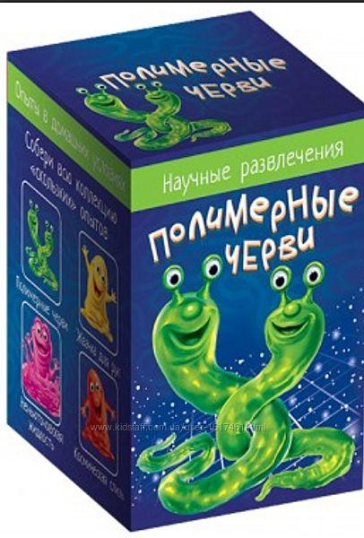 Научные игры, неньютоновская жидкость, полимерные черви космическая слизь