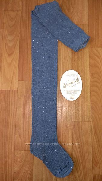 Колготы качество хлопок ТМ Элегант с блестящей ниткой