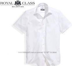 классическая белая рубашка royal class 48, 49 размер, чистый хлопок, оригинал