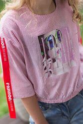 Легкий стильный топ блуза 134, , 146, , 158,164
