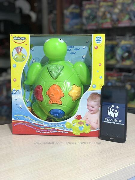 Развивающая игрушка сортер Bebelino Плавающая черепаха Игрушка для ванной
