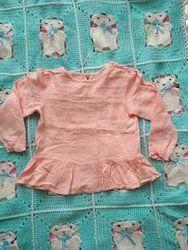 Блузка рубашка реглан