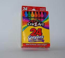Новый набор карандаши 24 цвета cra-z-art 24 crayons nontoxic оригинал сша