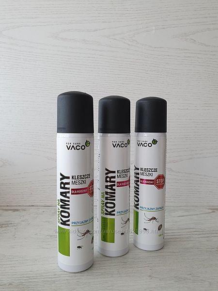 VACO спрей для предотвращения укусов комаров, клещей и мух.