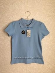 Голубая футболка поло на девочку 6-8 лет, новая. PEP&CO