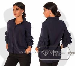 Новая стильная синяя блуза, блузка, рубашка