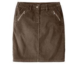 Сток TCM Tchibo. Новая коричневая вельветовая юбка