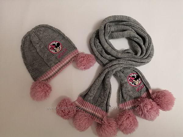 Шапка с шарфом на весну-осень.