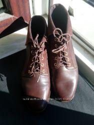 Ботинки кожаные,  Clark K shoes, стелька 22 см, деми, Киев