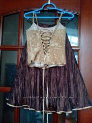 Нарядное платье, костюм - тройка, рост 140 - 152, на 8 - 11 лет