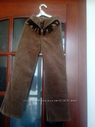 брюки вельветовые, р. 140, резинка, молния