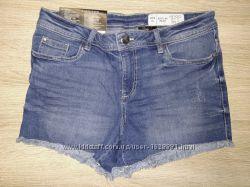 Джинсовые шорты esmara белые синие черные