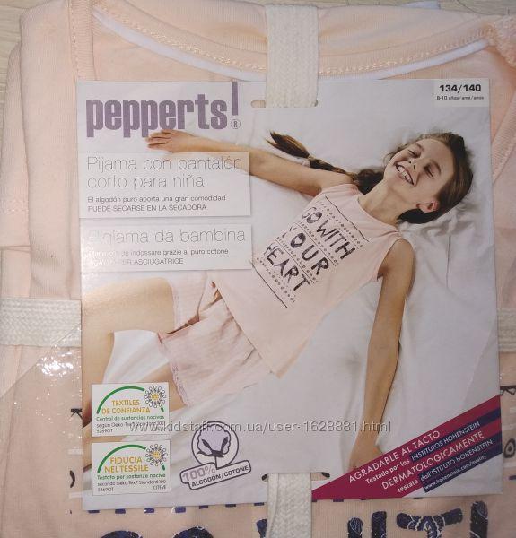 Пижама хлопковая для девочки 6-8 лет pepperts