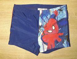 Трусики купальные для мальчика 10-12 лет человек паук