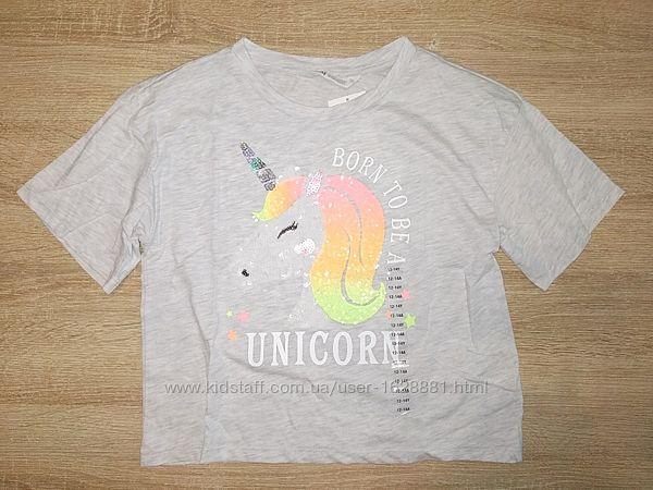 Стильные укороченные футболки длинные H&M разные