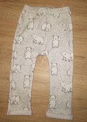 Утепленные спортивные штаны с мишками 98 см H&M