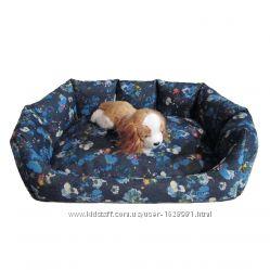 Лежак диванчик 53х45 для собаки кошки кота место гнездо съемный наматрасник