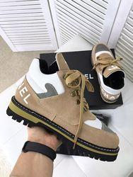 Женские ботинки из натуральной кожи, демисезонная обувь