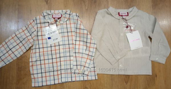 НовыеФирменная рубашка, рубашечка, реглан Neck&NeckИспания 62-68 см