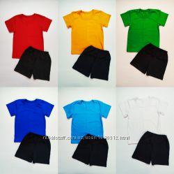 Детский комплект для физкультуры футболка и шорты