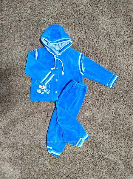 Комплект для мальчика штаны жилетка джемпер рост 68,74 6--9месяцев