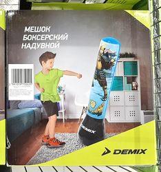 Мешок боксёрский детский надувной Demix тренировки дома бокс карате самбо