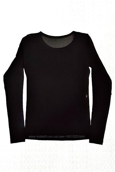 Кофточка женская чёрная сетка с длинным рукавом р42-44-46 Турция