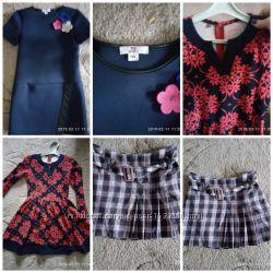 Платья и юбочка на девочку 8-10лет