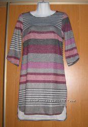 Новое супер-платье  туника - неприталенное, сзади длиннее, рукав три четвер