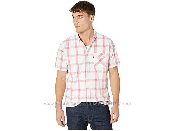 Мужская рубашка в клеточку с коротким рукавом от  Levis. Оригинал