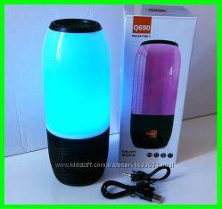 Bluetooth-FM-Колонка с Цветной Подсветкой в Стиле JBL Pulse