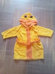 80-86 яркий качественный махровый детский халат для мальчика девочки