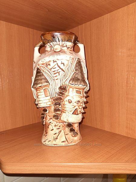 Ваза декоративная керамическая в стиле украинского села