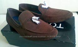 Лоферы topman vela slipper 42 navy и brown, new