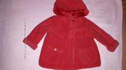 Яркая флисовая кофта-лёгкая куртка GEORGE для девочки  на 6-9мес.