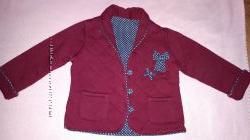 Утепленная кофта-пиджак Matalan для девочки на 9-12мес.