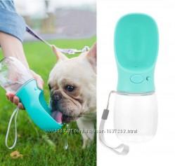 Прогулочная поилка для животных Dogbaby бутылка для воды 350 мл Голубой