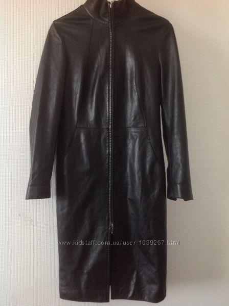 Итальянское кожаное пальто, размер 44-46