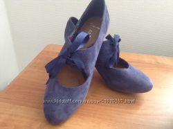 Замшевые туфли CLARKS, размер 40-41