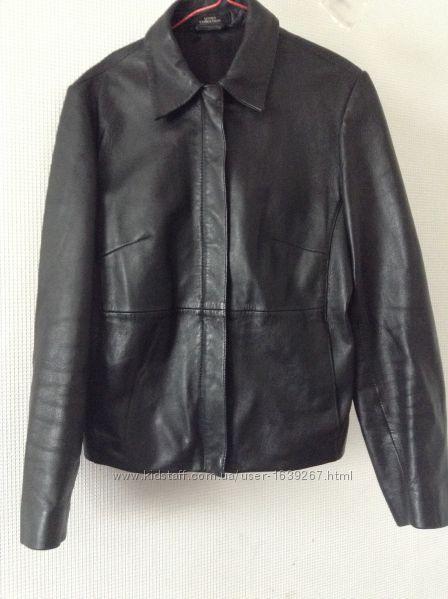 Кожаная куртка бомбер GEORGE, размер 44-46