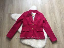 Модный стильный шерстяной пиджак жакет блейзер фуксия M-L