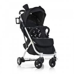Детская прогулочная коляска Yoga II, M 3910-2 черный горох