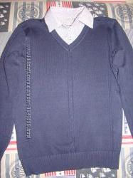 свитер обманка с рубашкой