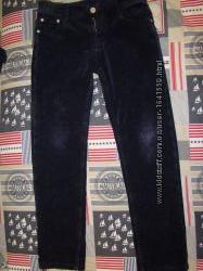 вельветовые теплые штаны