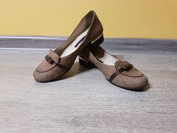 Туфли в школу для девочки, нубук. р.36, стелька-23,4см