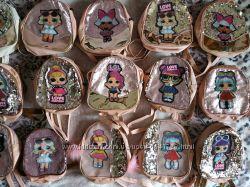 Рюкзачки детские с ЛОЛ светится и пайетками меняющими цвет